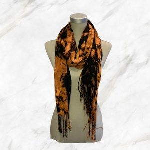 4/$30 🌺 Custom Tie-Dyed Black Scarf